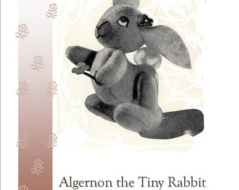 Rabbit  Bunny Toy Sewing Pattern 1950s Pdf Instant Download