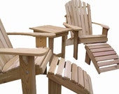 2 Adirondack chair kits, 2 ottoman kits and 1 End table kit- unfinished - 99% clear wood