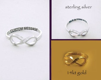 Sale *Custom Message Infinity Ring by donnaodesigns