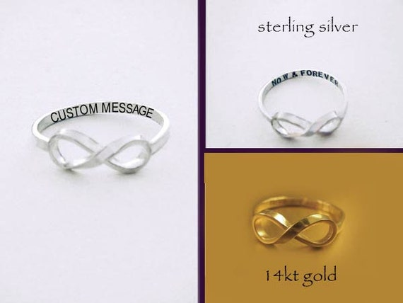 Sale *Custom Message Infinity Ring* Sale