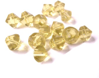 50pc 8mm bicone glass beads-3401