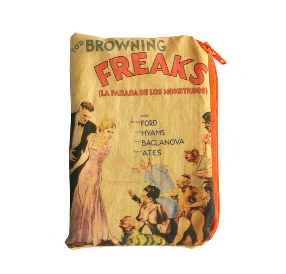 Freaks Vintage Movie Poster Zipper Pouch