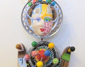 AWARD WINNER PUBLISHED A FuN Doo Pot  Recycled Found object sculpture