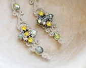 Like a Dream - Lace and Crystal Earrings