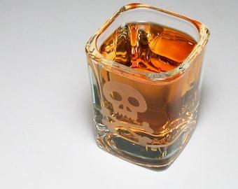Skull and Bones shot glass
