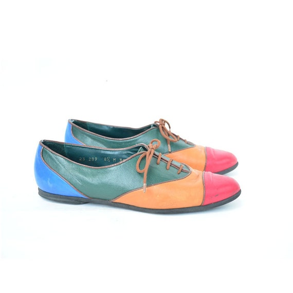 size 8.5 COLOR BLOCK leather oxfords by NINA 39