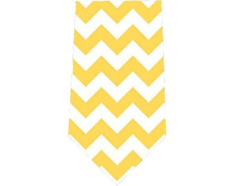 Men's Tie Yellow Chevron Necktie