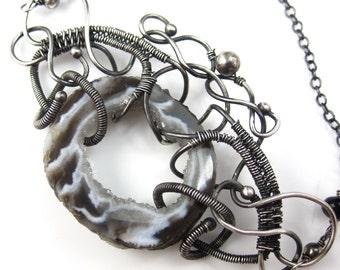 Victorian Gray Necklace