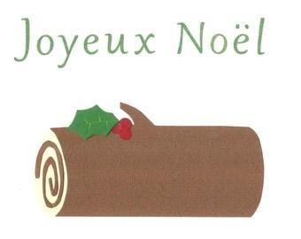 Bûche de Noël - Christmas card