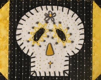Sugar Skull Quilt, Hufflepuff