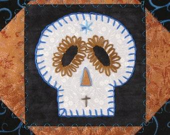 Sugar Skull Quilt, Ravenclaw