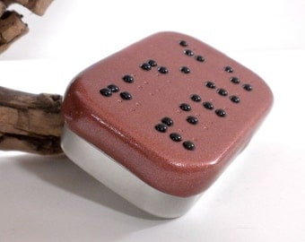 Two Line Braille Box - Personalized Jewelry Box - Handmade Treasure Box - Personalized Pill Box - Bronze Colored Trinket Box - MADE to ORDER