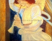 PR-032 Artistic Ephemera 8 x 10 Print - Edward Burne-Jones 'The Angel' - Also Available as Small Prints, Thank You Cards and Postcards