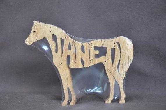 SALE Custom Elephant, Great Dane, Horse, Kangaroo Wooden Toy Puzzle Hand Cut SALE