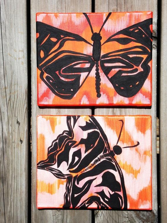 Flutter 2 Series Abstract Butterfly  Folk Art