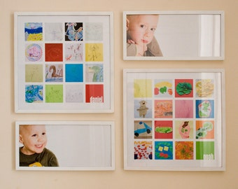 Your child's artwork collage