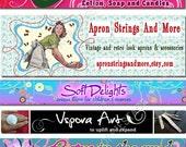 Custom Facebook Timeline cover/banner or Blog header or hyenacart store or website banner design