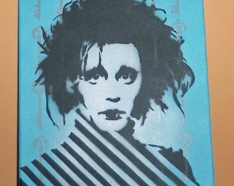 Edward Scissorhands Johnny Depp painting
