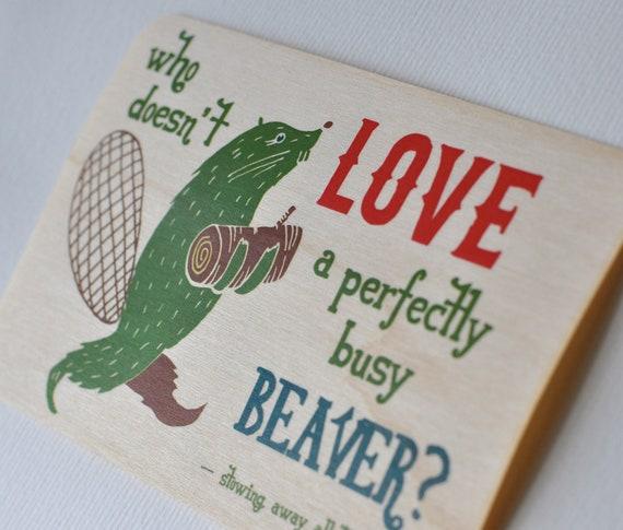 dirty little postcard - beaver