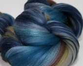 Waterfall Carded Batts Merino Wool Sparkle for Spinning or Felting