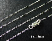 ANY LENGTH, Sterling SIlver Finished Cable Chain - Custom Lengths Available