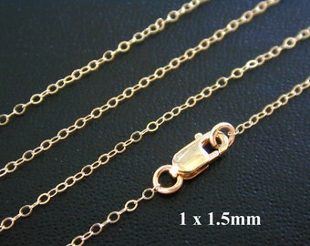 10 pcs- 18 Inch 14k Gold Filled Finished Cable Chain - Custom Lengths Available