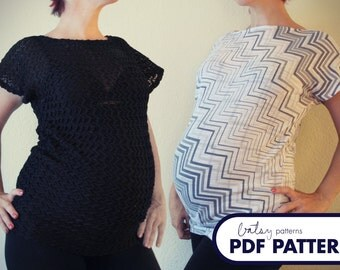 Parkette Top Maternity - PDF Pattern