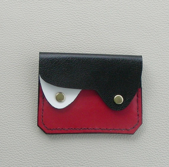 Compact Leather Wallet /Coin Purse/Card Case