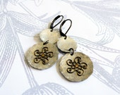 perpetual - vintage tin and brass earrings