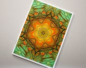 Marbled Paper Kaleidoscope Design Notebook no. 9