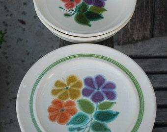 Vintage Franciscan Earthenware Floral Plates and Bowls