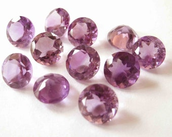 Gemstones Faceted Amethyst Brilliant Cut AAA 4mm FOR ONE