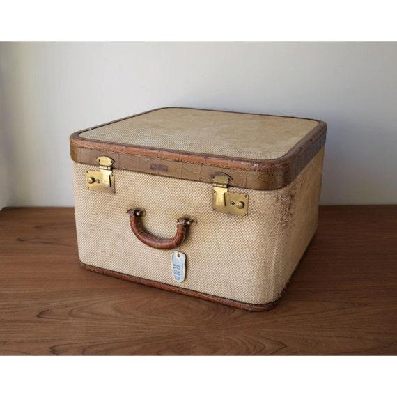 Vintage Suitcase - Wooden Suitcase - 1940 - Crocodile