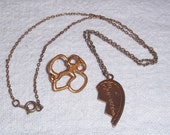 BROWNIE Girl Scouts Pin and Necklace Best Friend Half Heart