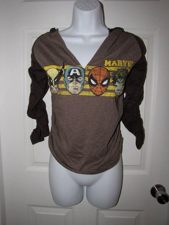 marvel comics SPIDERMAN Wolverine the HULK Captain AMERICA long sleeve raglan t shirt
