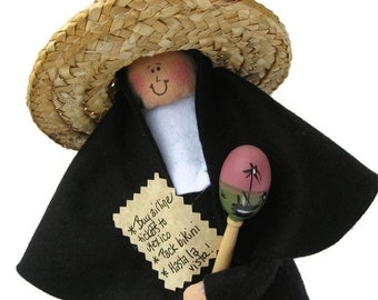nun doll Catholic gift-Sister Kay Pasa, vacation in Mexico