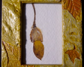 Long Acorn Original Watercolor, Framed