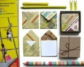 Mini Stationery Set: Yellow Pages Envelopes with White Cards