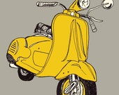 The Yellow Scooter Print