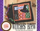PATTERN for Witches' Brew Halloween Quiet Book - digital .PDF download
