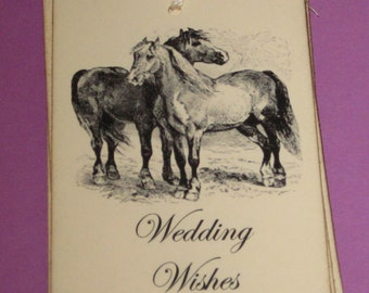 8 Wedding Wishes Horses Gift Tags Weddings Birthdays Anniversary Bridal Shower