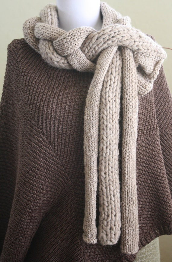 Knitting Pattern Twisted Scarf : Knitting Pattern PDF: Twisted Roots Scarf by