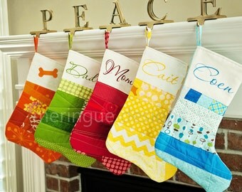 PATTERN Patchwork Christmas Stocking PDF format