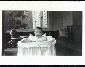 vintage photo Cutest Baby 1943