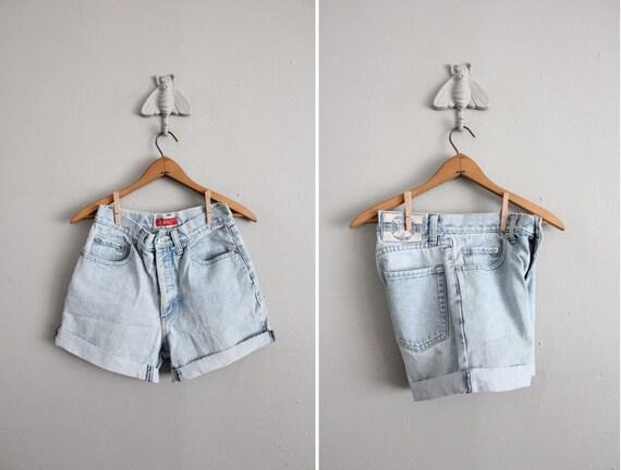 on hold - vintage pale Esprit cut & cuff denim shorts