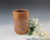 Ceramic Tumbler / Cup / Stoneware Handleless Mug, Toasty Brown  m129
