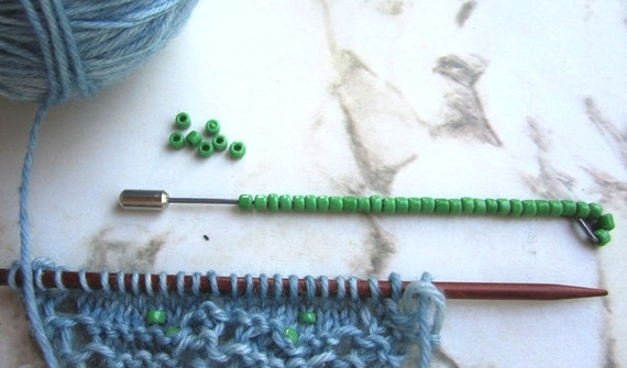 She-Knits 6/0 Bead Feeder for fingering weight yarn and 6/0 high quality beads