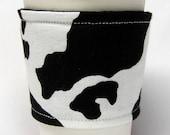 Coffee Cozy/Cup Sleeve Eco Friendly Slip-on, Teacher Appreciation, Co-Worker Gift: Cowhide Print