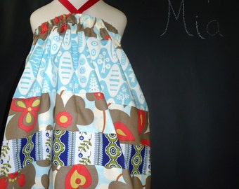 SAMPLE - 4th of July - Halter dress or top - Will fit Size 12-24 month up to 5T - by Boutique Mia - Ready To Ship