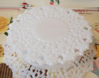 Modern Vintage Bridal / Pedestal for Wedding Cake Topper / One Item / Do it yourself / Plastic / Cupcake Pedestal